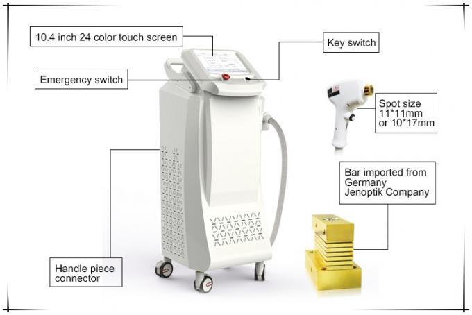 808nm Diode Laser Hair Removal Machine / Micro Channel Hair Removal Laser Machine