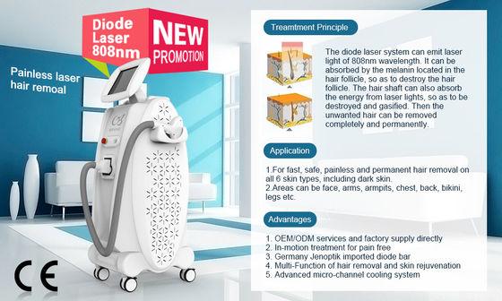Stationäre enthaarende Ausrüstung der Dioden-Laser-Haar-Abbau-Maschinen-808nm Lieferant