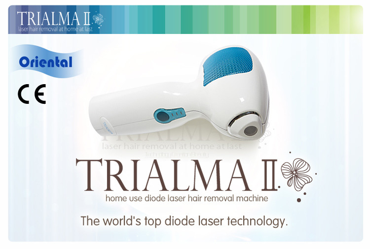 White Portable Trialma Home Laser Hair Removal Equipment Permanent 1kg
