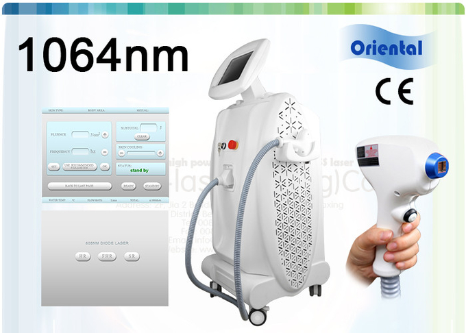 Facial / Back Hair Removal Laser Machines , 1064 Nm / 810 Nm Diode Laser Hair Removal