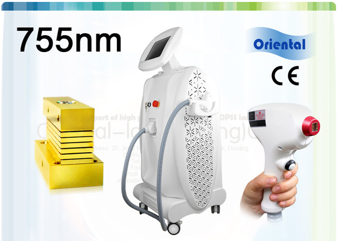 Skin Whitening Alexandrite Laser Hair Removal , 755nm Diode Laser Hair Removal Machine