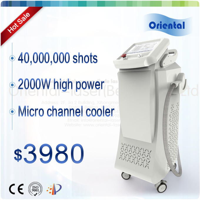 Up to 40,000,000 shots permanent 808nm diode laser hair removal machine price